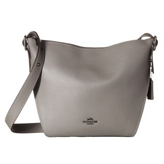 COACH Small Leather Dark Heather Grey Dufflette Handbag