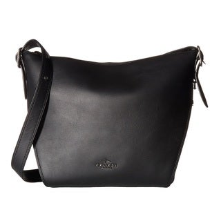 COACH Small Leather Dark/Black Dufflette Handbag