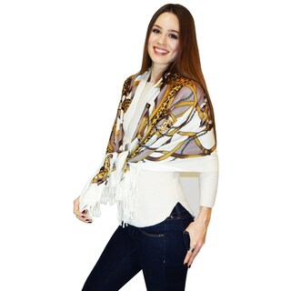 Vecceli Italy Novelty Pashmina Brown Wrap