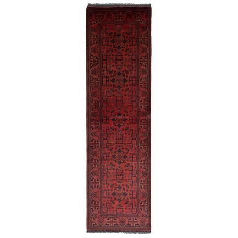 eCarpetGallery Hand-knotted Finest Khal Mohammadi Dark Copper Wool Rug (2'6 x 10'0)