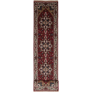 eCarpetGallery  Hand-knotted Royal Heriz Red Wool Rug (2'7 x 11'7)