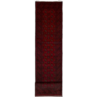 eCarpetGallery Hand-knotted Khal Mohammadi Red Wool Rug (2'7 x 12'10)