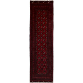 eCarpetGallery Hand-knotted Khal Mohammadi Dark Red Wool Rug (2'9 x 9'7)
