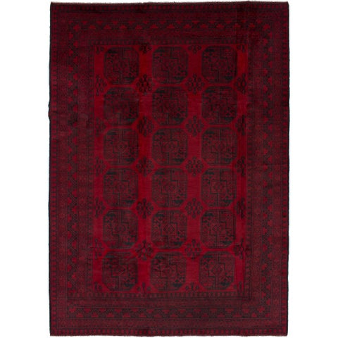 eCarpetGallery Hand-knotted Khal Mohammadi Red Wool Rug (6'8 x 9'4)