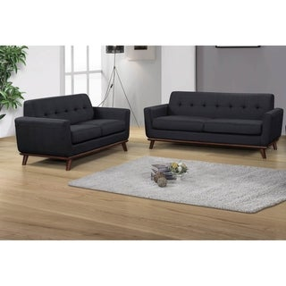 Best Master Furniture C106 Upholstered Sofa & Love Seat