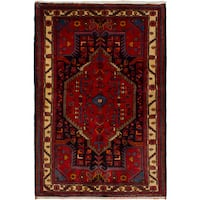 eCarpetGallery  Hand-knotted Touserkan Red Wool Rug (3'4 x 4'11)