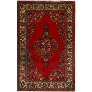 Hand-knotted Sarough Copper Wool Rug - 3'6 x 5'5