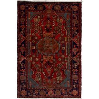 eCarpetGallery Hand-knotted Nahavand Dark Copper Wool Rug (3'9 x 5'8)