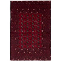 eCarpetGallery  Hand-knotted Khal Mohammadi Red Wool Rug (5'3 x 7'8)