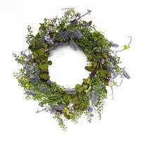 Puleo International 22 in. Artificial Lavendar Wreath