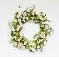 Puleo International 22 in. Artificial Daisy Wreath