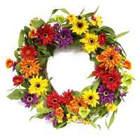 Puleo International 20 in. Artificial Chrysanthemum Wreath