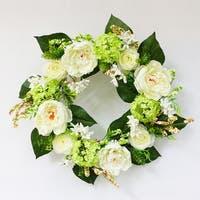 Puleo International 24 in. Artificial Hydrangea Wreath