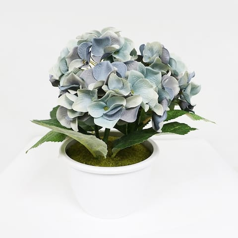 Puleo International Artificial Potted Hydrangea