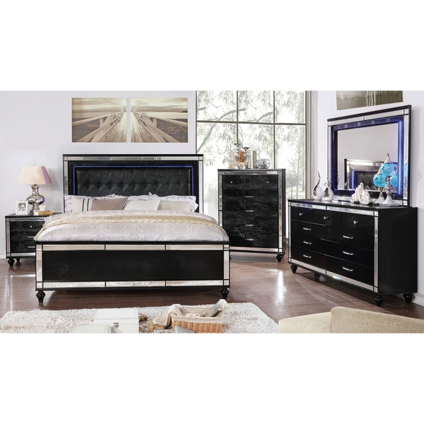 Shop Furniture Of America Petra Contemporary Tufted Bed