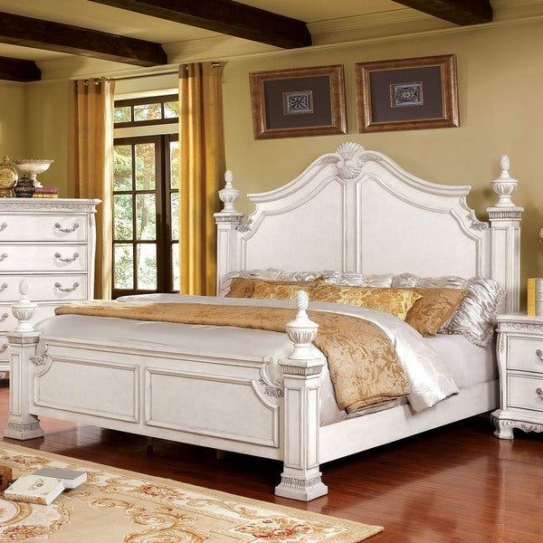 Shop Furniture Of America Marcelle Traditional Four Poster