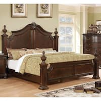 Furniture of America Marcelle Traditional Four Poster Bed