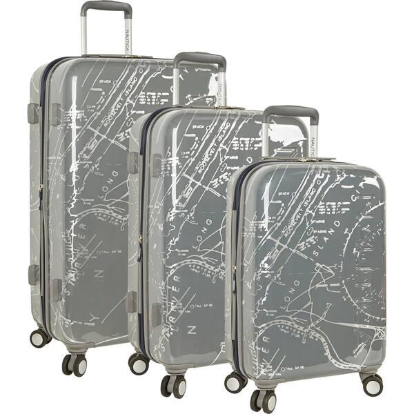 c271bcf3b Shop Nautica Shipyard Map 3-piece Hardside Spinner Luggage Set ...