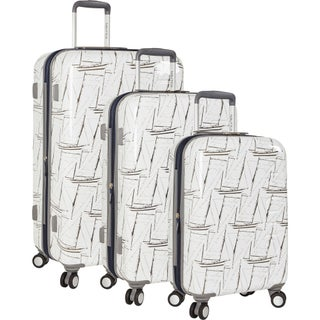 Nautica Shipyard Sailstack 3-piece Hardside Spinner Luggage Set (2 options available)