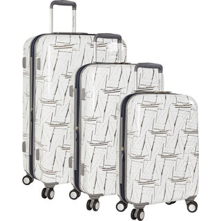 Nautica Shipyard Sailstack 3-piece Hardside Spinner Luggage Set