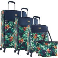 Tommy Bahama St. Kitts 4-piece Floral Spinner Luggage Set