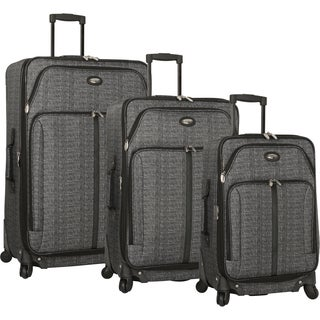 Travel Gear Triton 3-piece Expandable Spinner Upright Luggage Set