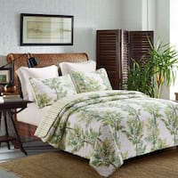 Palm Grove Coastal Reversible 3-piece Quilt Set