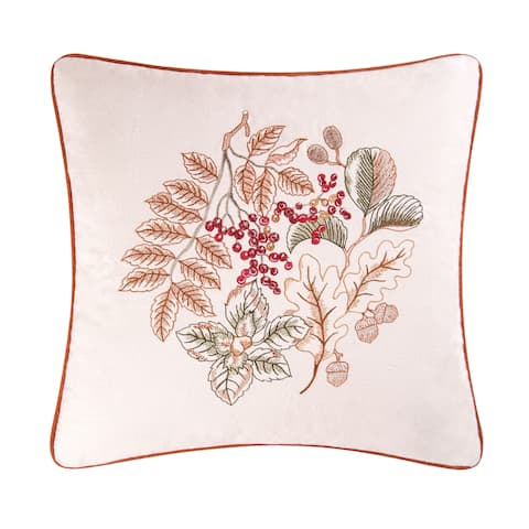 Amison Embroidered 18 Inch Throw Decorative Accent Throw Pillow