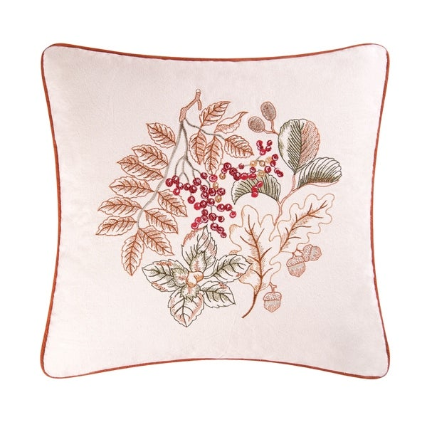 Amison Embroidered 18 Inch Throw Pillow