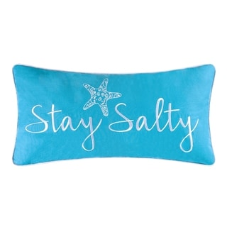 Stay Salty Embroidered 12x24 Throw Pillow