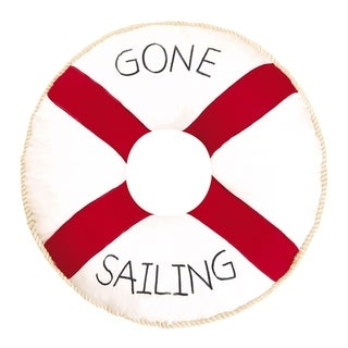 Gone Sailing Quilted 16 Inch Throw Pillow