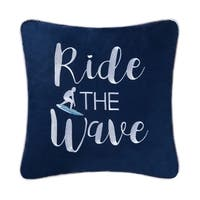 Surfer's Embroidered Pillow
