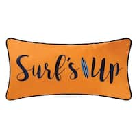 Surfer's Embroidered 12x24 Throw Pillow