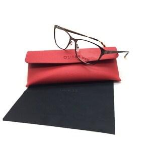 Guess Women Brown Rectangular New Eyeglasses GU 2502 046 52 Plastic