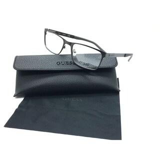 Guess Men Gunmental Rectangular New Eyeglasses GU 1885 009 54 Plastic
