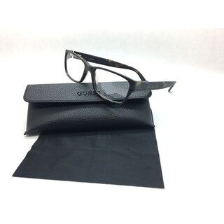 Guess Men Tortoise Rectangular New Eyeglasses GU 1803 TO 55 Plastic