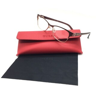 Guess Women Brown Rectangular New Eyeglasses GU 2467 BRN 51 Plastic