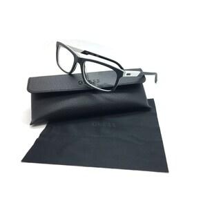 Guess Men Black Rectangular New Eyeglasses GU 1845 BLKWHT 54 Plastic