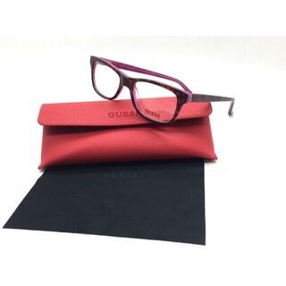 Guess Women Purple Rectangular New Eyeglasses GU 2518 052 50 Plastic