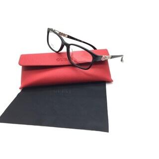 Guess Women Black Rectangular New Eyeglasses GU 2558 F 005 54 Plastic
