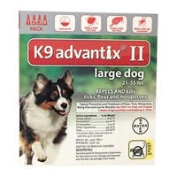 Bayer  K9 Advantix II  Flea and Tick Drops For Dogs and Puppies  Liquid  Boxed