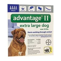 Bayer  Advantage II  Flea and Tick Drops For Dogs and Puppies  Liquid  Boxed