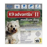 Bayer  K9 Advantix II  0.14 oz. Flea and Tick Drops For Dogs and Puppies  Liquid  Imidacloprid/Pyriproxyfen