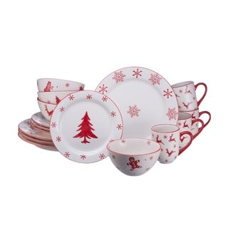 Euro Ceramica Winterfest 16 Piece Dinnerware Set (Service for 4)