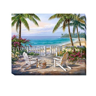 Coastal View by Sung Kim Gallery Wrapped Canvas Giclee Art