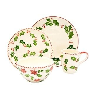 Euro Ceramica Natal 16 Piece Dinnerware Set (Service for 4)