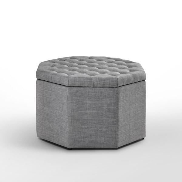 Amazing Shop Inspired Home Susan Velvet Linen Ottoman Storage Dailytribune Chair Design For Home Dailytribuneorg