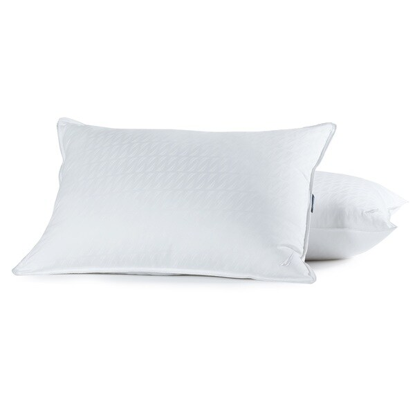 Nautica LUX-LOFT Down Alternative 400 Thread Count Cotton Pillow, Set of 2 - White
