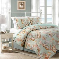 Oceanside Coastal Reversible 3-piece Quilt Set