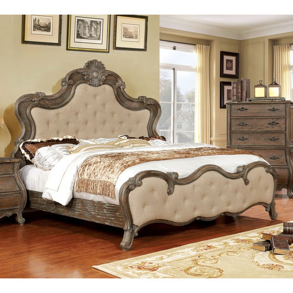 Furniture of America Montpierre Traditional Antique Style Tufted Bed - Shop Furniture Of America Montpierre Traditional Antique Style